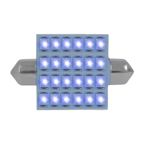 Hyper Bright 24-diode LED 211 dome light bulb - PAIR - Blue