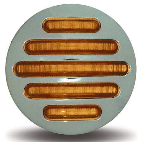 "Flatline amber 2.5"" round 14 diode LED marker light"