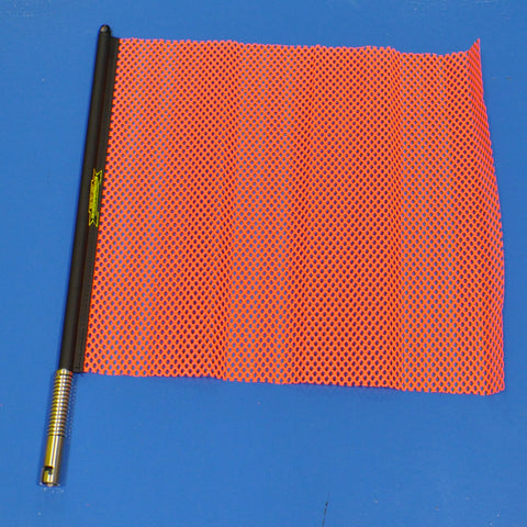 "18"" orange oversize load flag with quick mount connector"