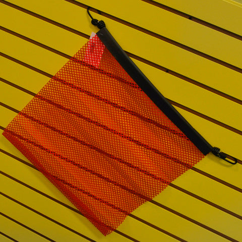 "18"" red oversize load flag w/EZ hook"