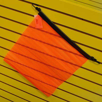 "18"" orange oversize load flag w/EZ hook"
