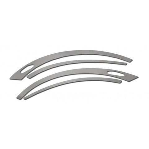 Peterbilt 579 stainless steel front side fender trim - 4 piece kit