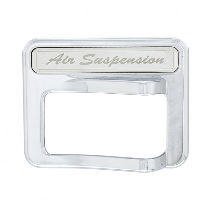 Peterbilt 567/579 chrome plastic rocker switch cover w/stainless steel nameplate - Air Suspension