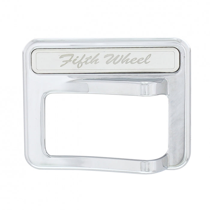 Peterbilt 567/579 chrome plastic rocker switch cover w/stainless steel nameplate - Fifth Wheel
