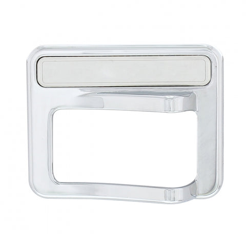 Peterbilt 567/579 chrome plastic rocker switch cover w/stainless steel nameplate - (blank)