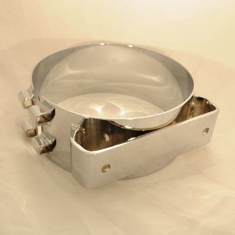 "Dynaflex Freightliner/ACFM 8"" diameter chrome wide band exhaust clamp"
