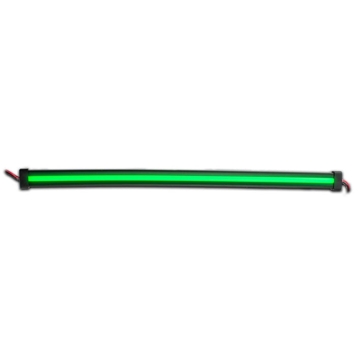 "Green LED glow strip light - Center Shine - 12"" length"