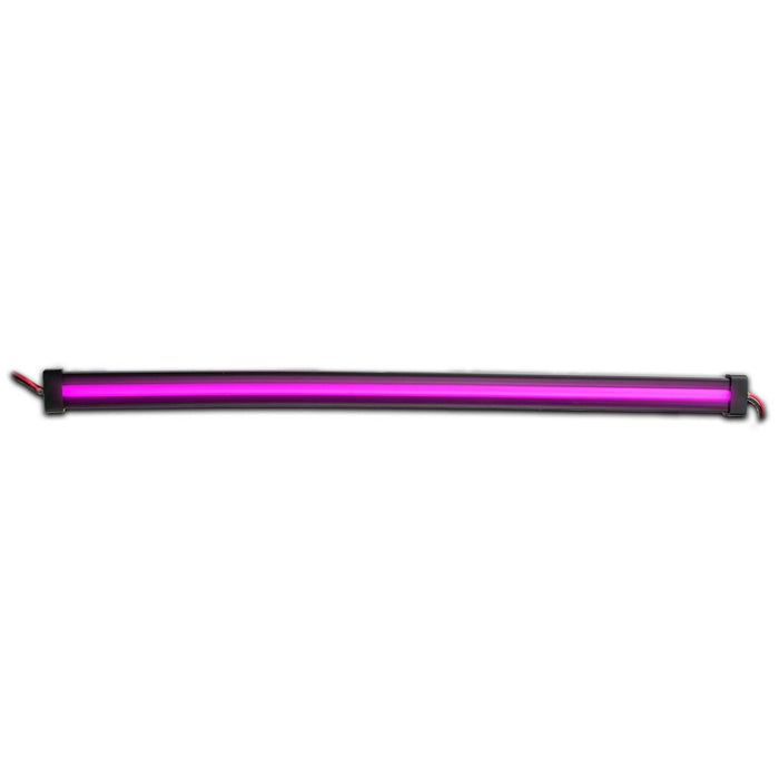 "Purple LED glow strip light - Center Shine - 12"" length"