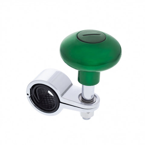 """Emerald Green"" plastic steering wheel spinner knob"