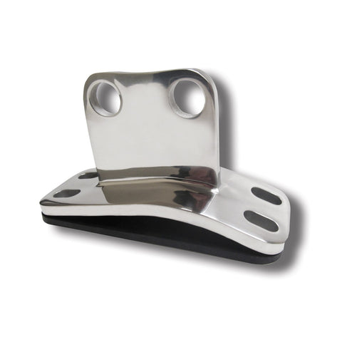 Peterbilt polished stainless steel straight exhaust cab mount bracket
