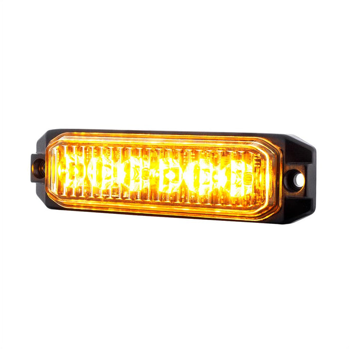 "Amber ""Competition Series"" slim 6 diode LED strobe / warning light"