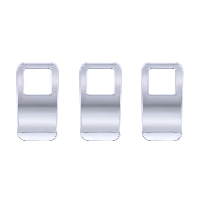 Kenworth T680/T880/W990 chrome plastic dash rocker switch cover - 3/pack