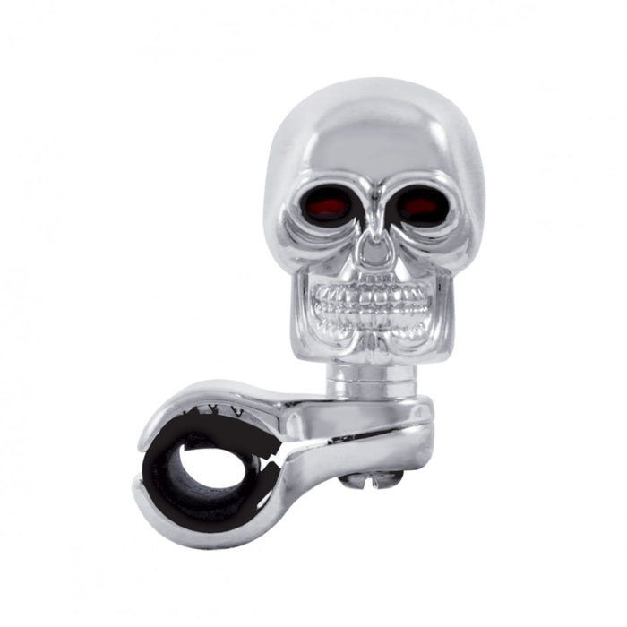 Skull chrome aluminum steering wheel spinner knob