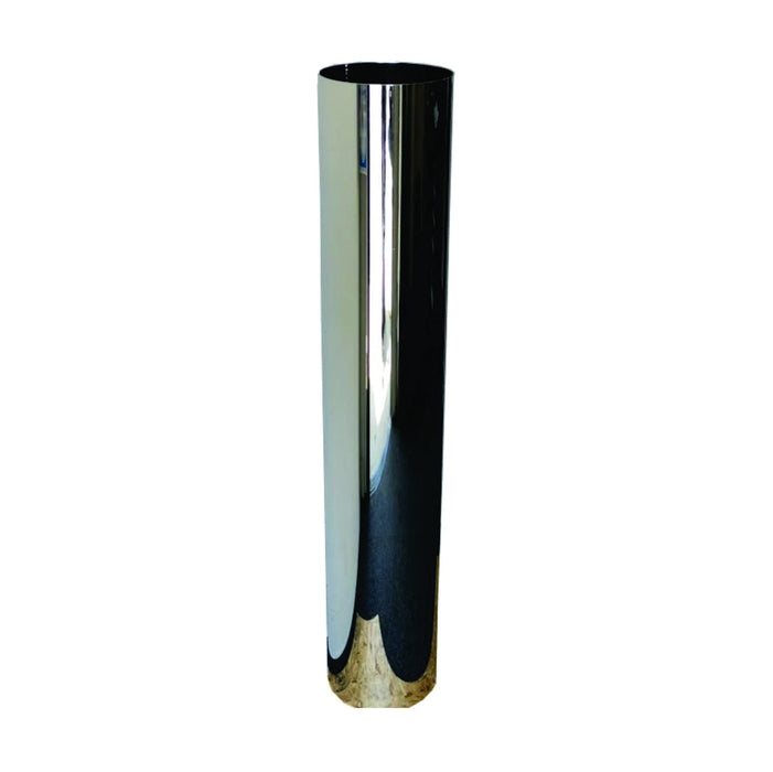 "Flat Top 60"" chrome exhaust stack - 6"" diameter reduced to 5"" - SINGLE"