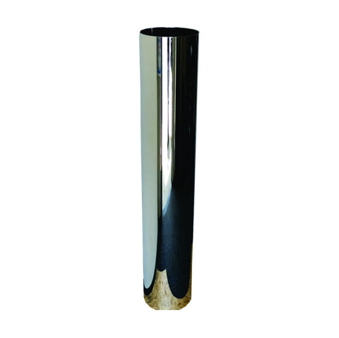 "Flat Top 60"" chrome exhaust stack - 7"" diameter reduced to 5"" - SINGLE"