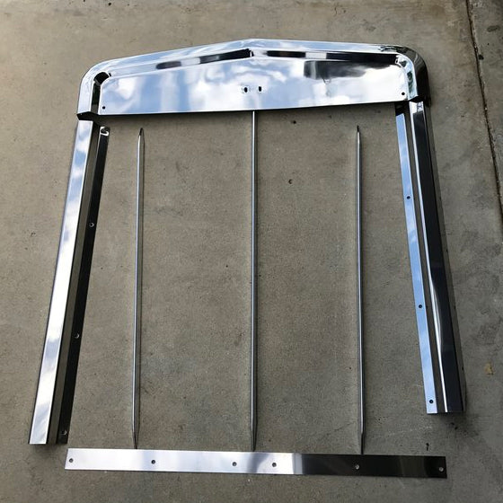 Kenworth W900L stainless steel grill surround