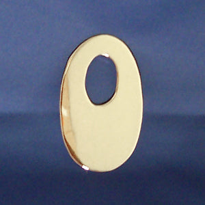 "2"" chrome cut out number - tape mount - ""0"""