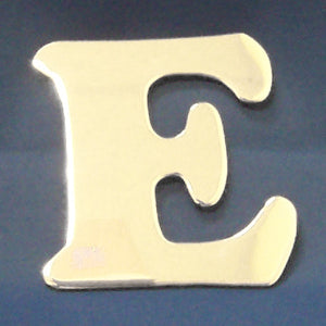 "2"" chrome cut out alphabet letter - tape mount - ""E"""