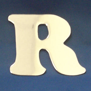 "2"" chrome cut out alphabet letter - tape mount - ""R"""