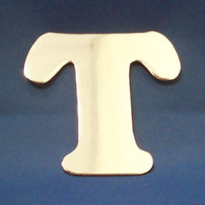 "2"" chrome cut out alphabet letter - tape mount - ""T"""