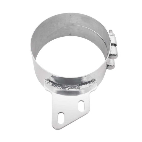 "Peterbilt chrome wide band angled exhaust clamp for 6"" diameter stack kits"