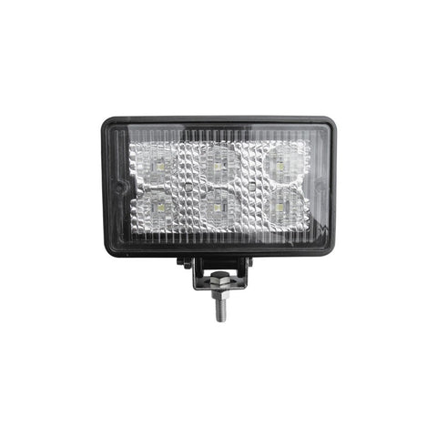 "White 4"" x 6"" rectangular 6 diode LED work light, flood beam pattern - 600 lumens"