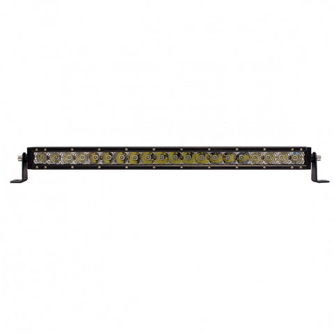 "White 20.5"" single-row high-powered 20 diode LED light bar"
