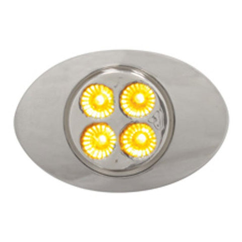 M3-style Amber 4 diode LED marker light - CLEAR lens