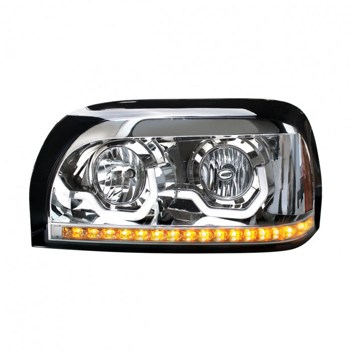 "Freightliner Century replacement headlight w/LED ""Glo"" light and turn signal"