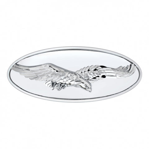 Chrome diecast 3D eagle replacement Peterbilt-style emblem w/mounting studs - SINGLE