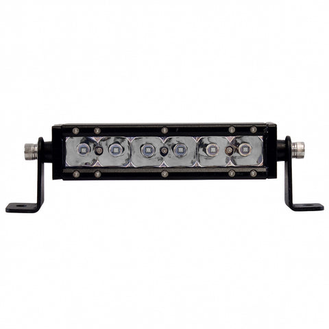 """Cree"" white 7"" single-row 6 diode LED work light bar - 2100 lumens"