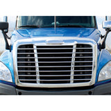 Freightliner chrome plastic blank replacement emblem with mounting hardware