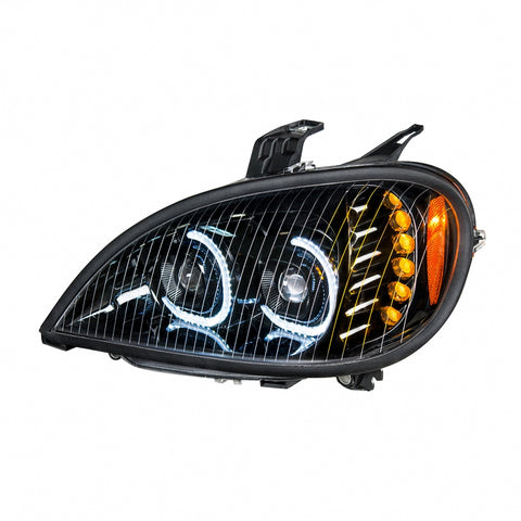 "Freightliner Columbia ""Glo"" blackout projection-style LED headlight"