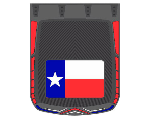 "Texas Flag 24"" x 30"" colored rubber mudflap - PAIR"