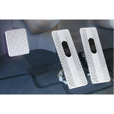 Kenworth W900/T800 1994-2006 chrome diamond billet foot pedal set