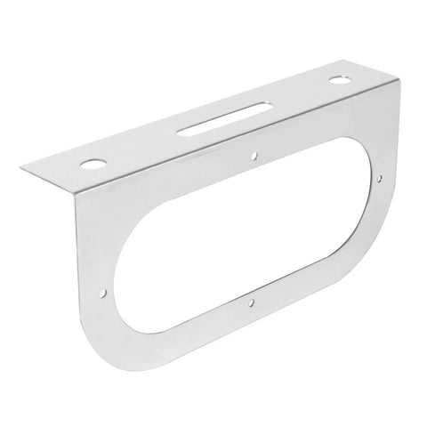 Stainless steel light bracket w/1 oval light hole - rounded edge