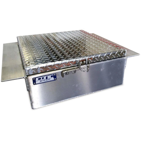 "9"" (H) x 22"" (L) x 28"" (W) in-frame/drop in aluminum tool box"