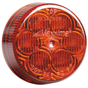 "Maxxima red 2"" round 6 diode LED marker light"