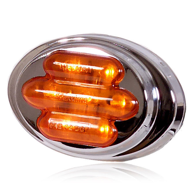 "Maxxima amber 2"" mini-oval 7 diode LED marker light"