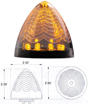 "Maxxima amber 2.5"" beehive LED marker light - CLEAR lens"