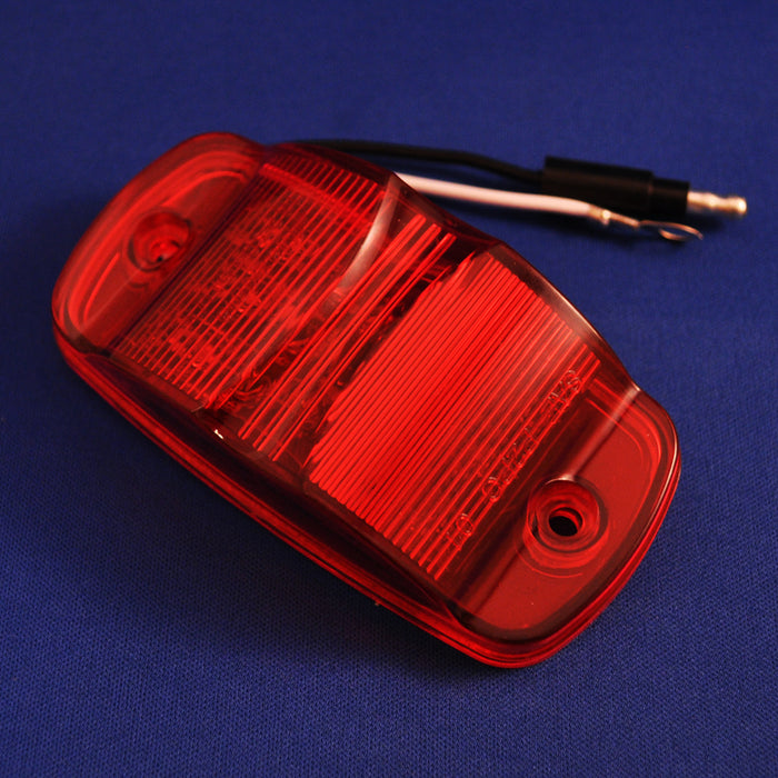 "Maxxima red 2"" x 4"" rectangular LED marker light"