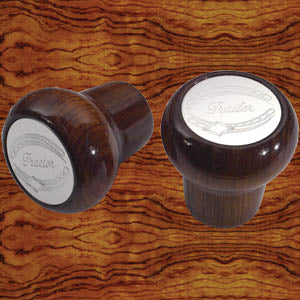 "Rockwood African Rosewood ""Tractor/Trailer"" thread-on brake knobs - PAIR"