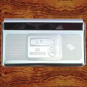 "Rockwood Peterbilt -2005 stainless steel ashtray cover w/""No Smoking"" design"