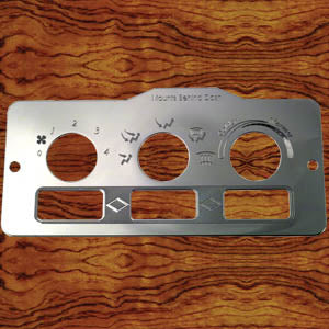 Rockwood Peterbilt -2005 air conditioner/heater control plate w/3 rocker switch holes