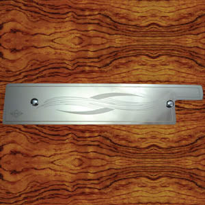 Rockwood Peterbilt 1995-2000 stainless steel under glove box plate