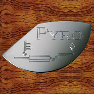 "Rockwood Kenworth ""Pyrometer"" stainless steel gauge emblem for Isspro gauges - 1/3 moon shape"
