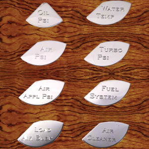 "Rockwood Kenworth stainless steel gauge emblems - master pack ""A"""