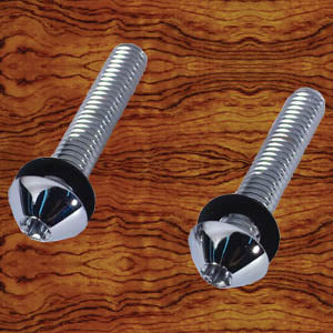 Rockwood Kenworth chrome stainless steel button head dash panel screws - 20/PACK