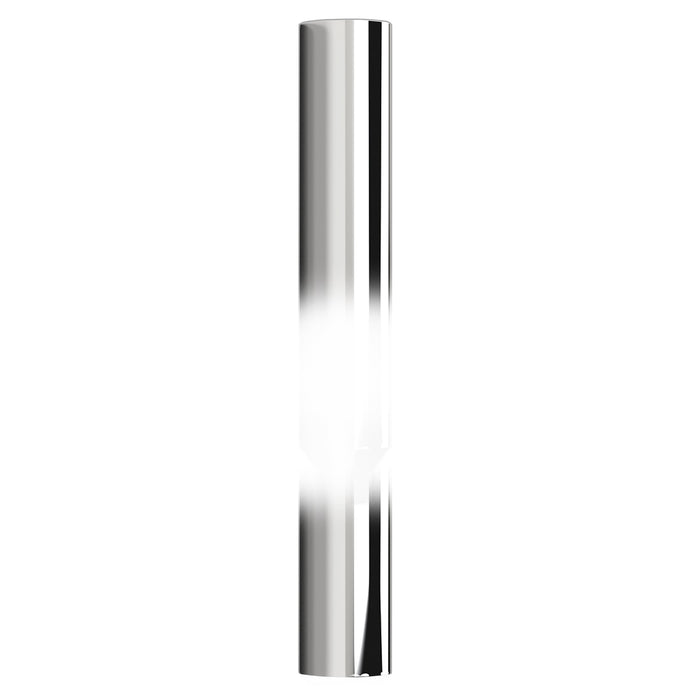 "48"" tall Stove Pipe chrome exhaust tip - 8"" diameter, reduced to 5"""
