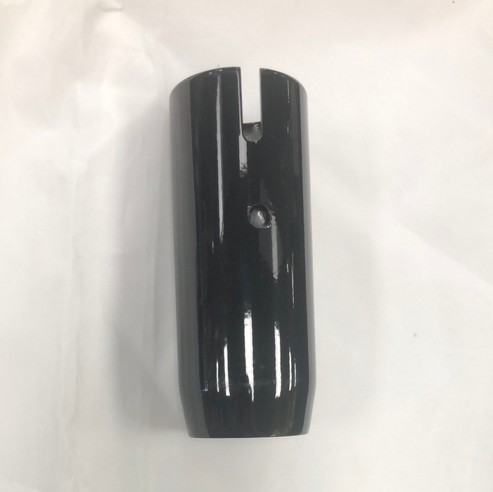 Black powder coated stainless steel gear shifter skirt